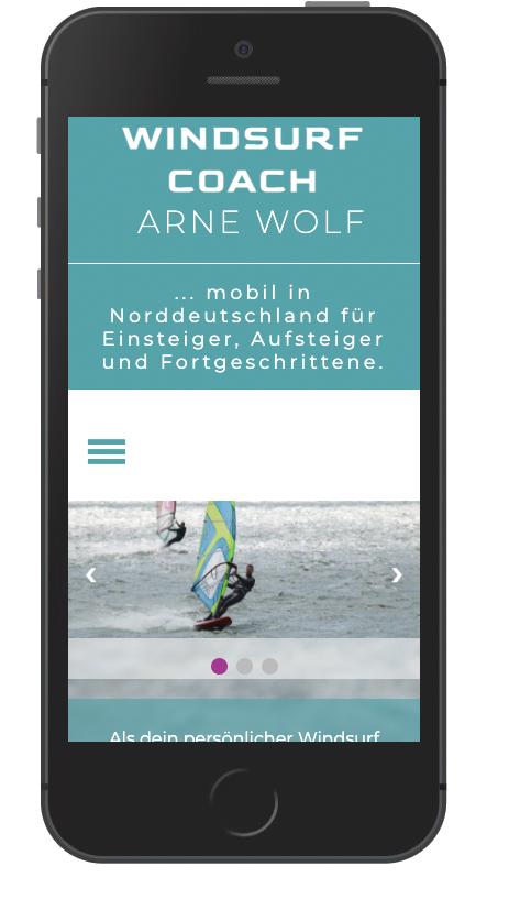 Windsurf-coach Smartphone