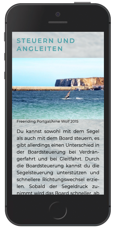 Windsurf-coach Smartphone iphone 6/7/8