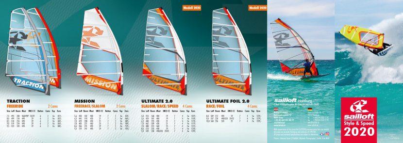 Flyer Sailloft Segel 2020 Wickelfalz 12 Seiten Außen